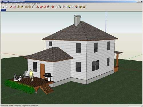 Google 39 s sketchup 7 1 is still among the best free for Modele maison sketchup