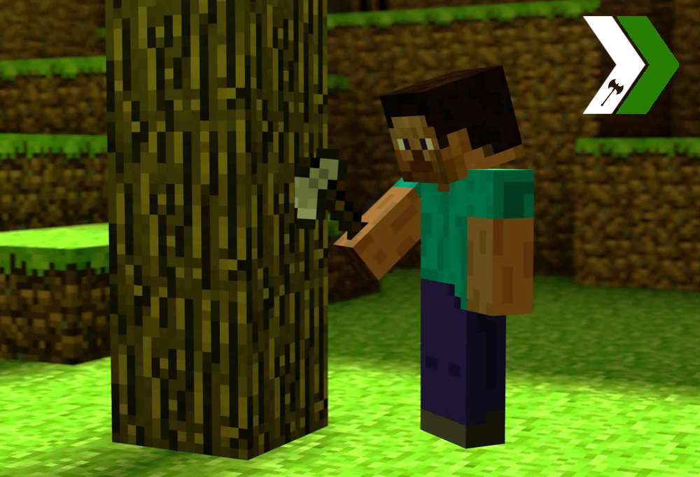 How To Craft A Wooden Axe In Minecraft Pc