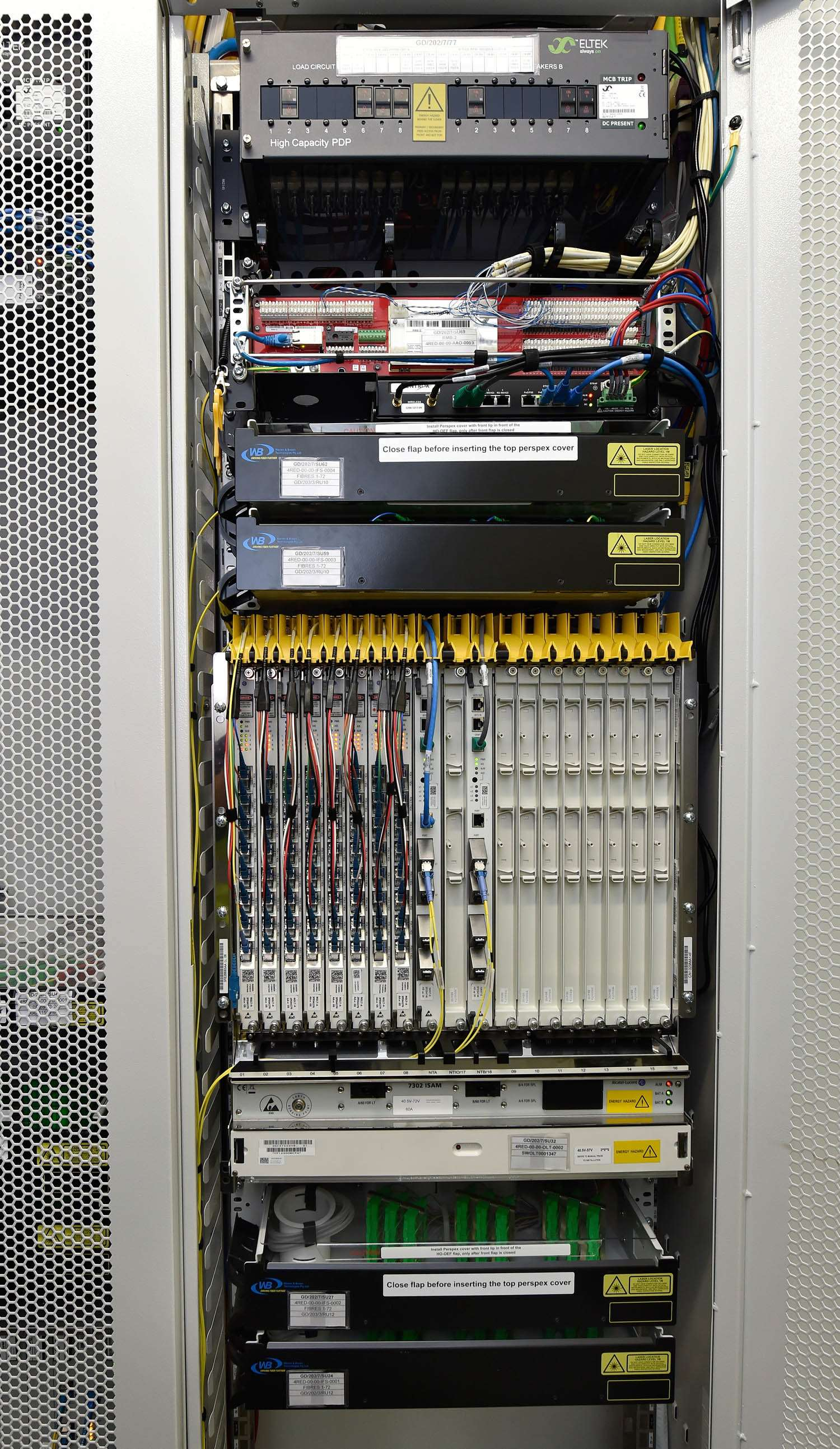Photos A Look Inside An Nbn Exchange Telco Isp Itnews Wiring Your House For