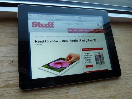 Apple new iPad 3 2012 review – screen