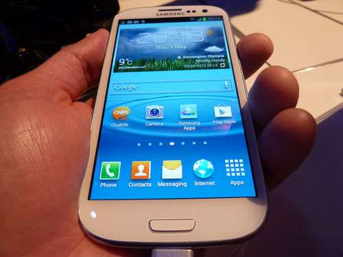 samsung galaxy S3 display hands on review