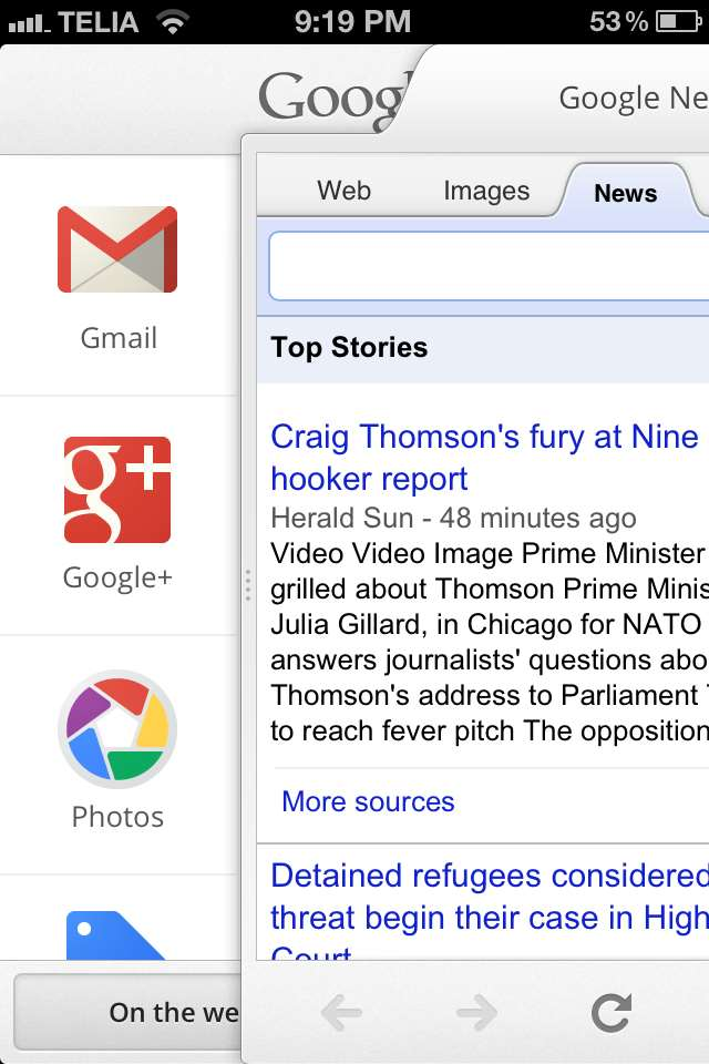 Google revamps iOS Search app - Software