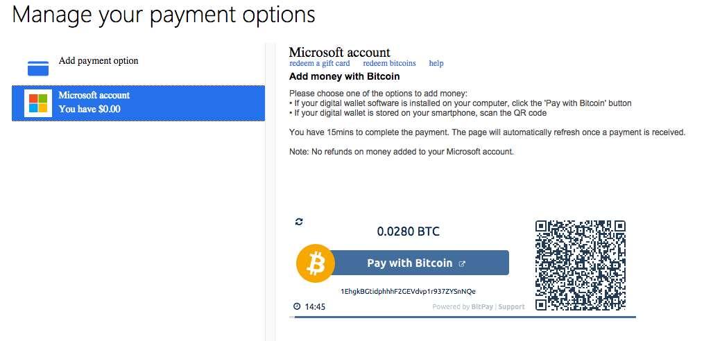 microsoft bitcoin)