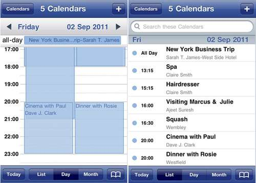 calendarised iphone app