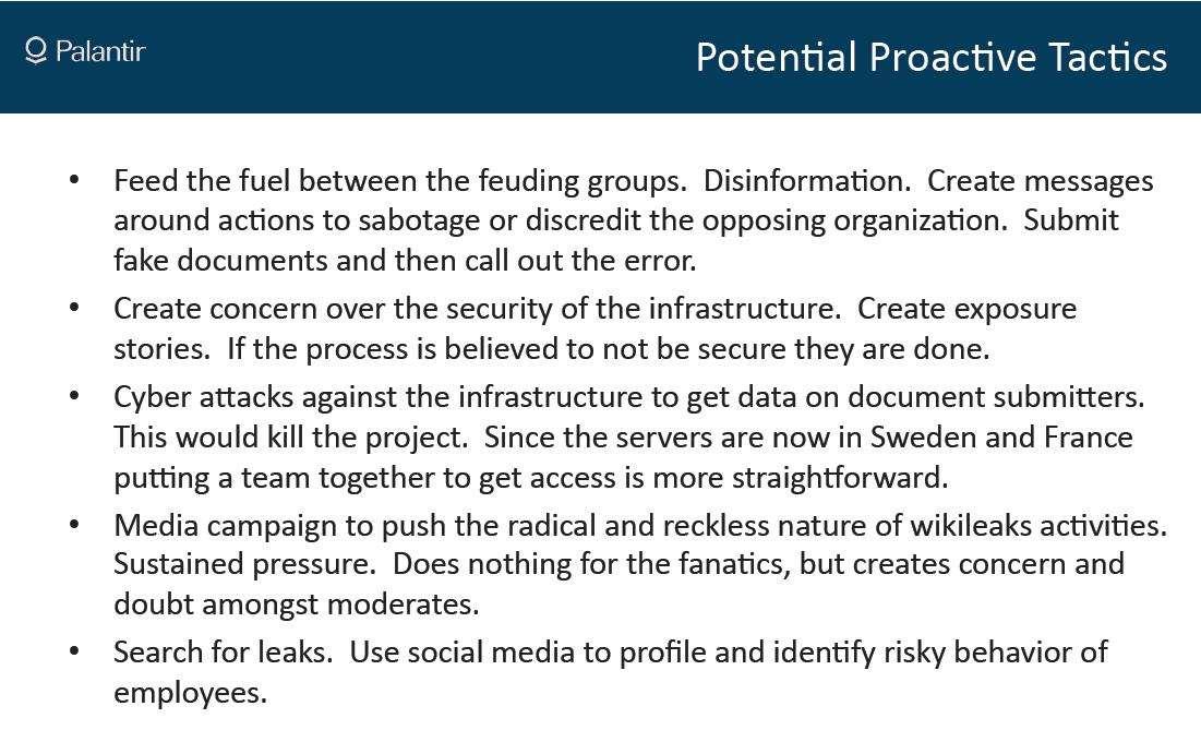 Secret plan to kill Wikileaks with FUD leaked - Security
