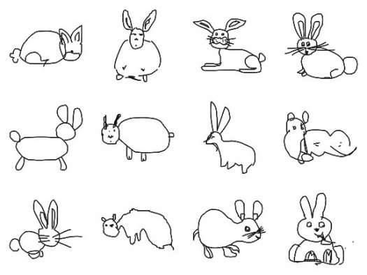 Simple Line Drawing Algorithm : Computer learns to recognize badly drawn animals