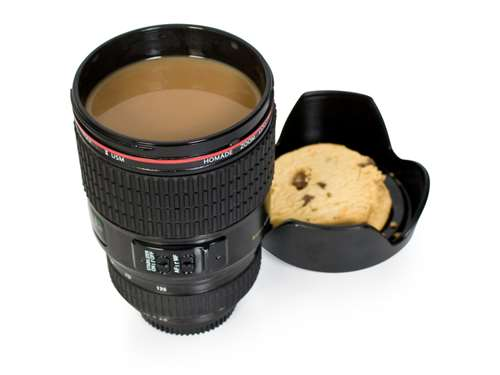 camera lens mug kitsch gift guide