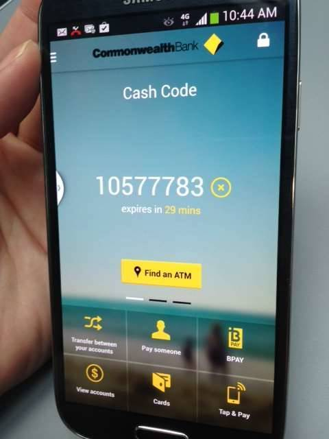 how to use cardless atms commonwealth bank