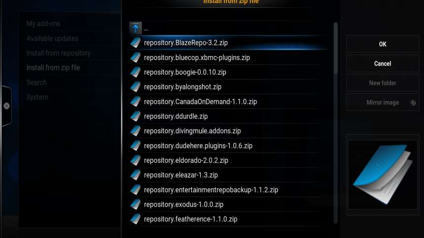 how to install latest kodi add on