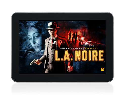 LA Noire on OnLive tablet with touch interface