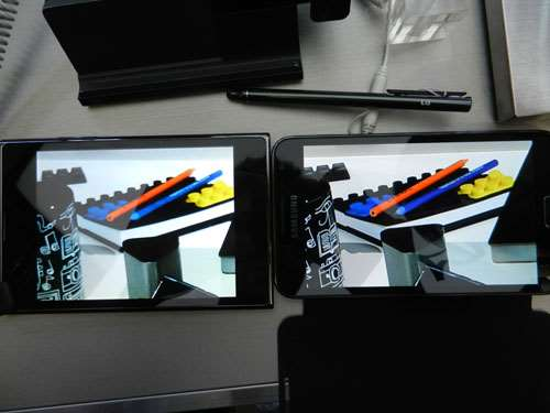 comparison lg optimus vu vs samsung galaxy note hands on review which is better