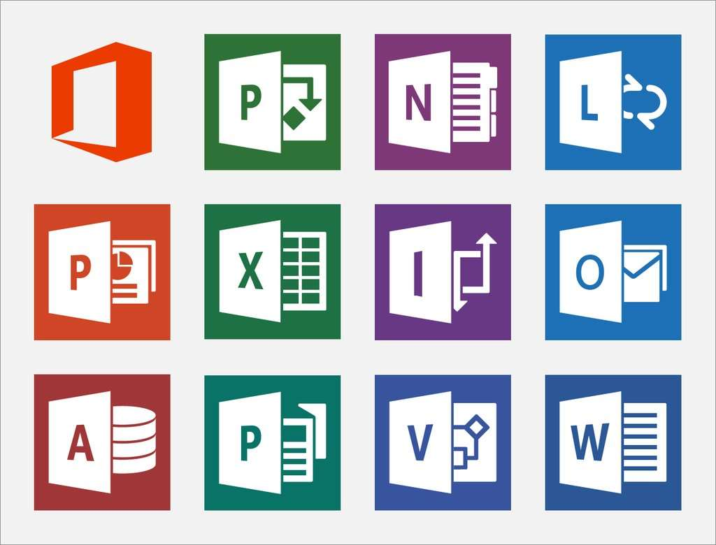 But I Cant Figure Out In What Context The Office Suite Of Products Use A Different Style Logos