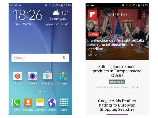 Samsung Galaxy S6 vs LG G4 - Samsung Galaxy S6 Features Touchwiz UI
