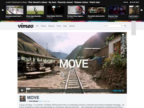 Ask DN: When did Vimeo get rid of their top-down navigator?
