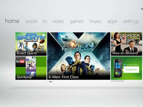xbox 360 live dashboard update home screen kinect