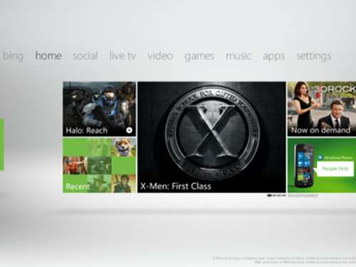 xbox 360 live dashboard update metro apps