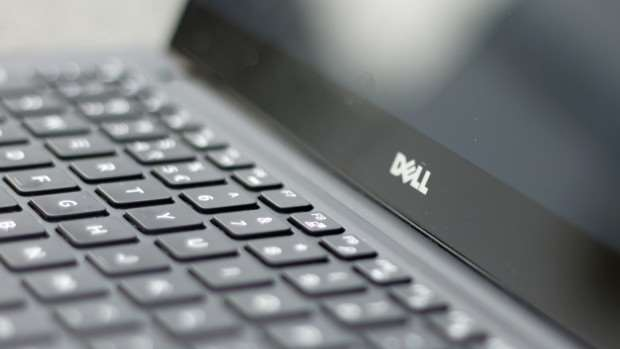 Dell XPS 13 review: Keyboard and Dell logo