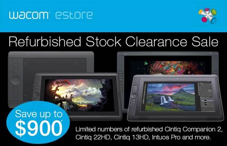 Wacom pen tablet refurbs at special prices
