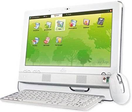 Asus Eee Top ET1602, a new type of desktop PC