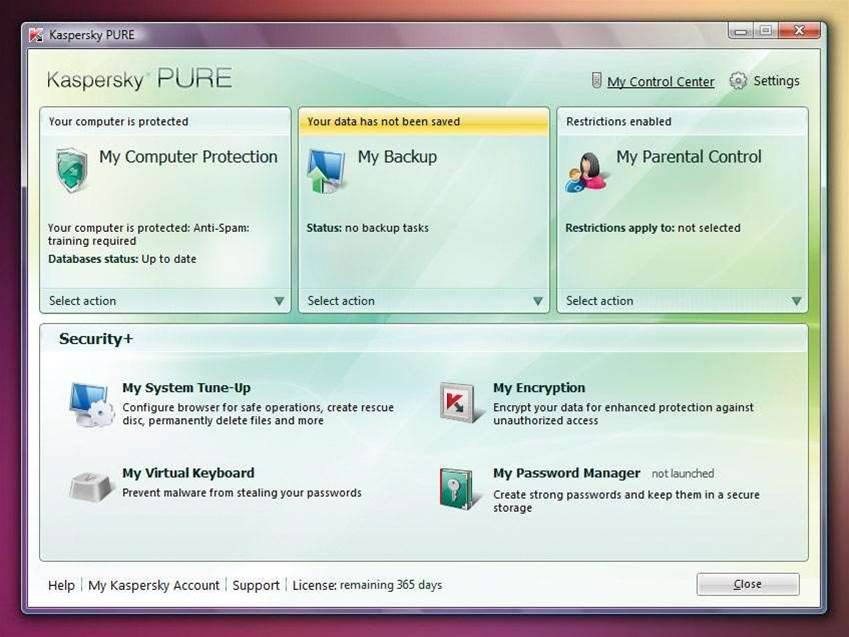 Kaspersky Pure, the new all-in-one package reviewed