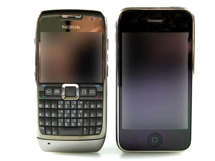 First Look: Nokia E71 faces off against iPhone 3G