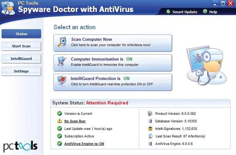PC Tools Spyware Doctor with AntiVirus 6