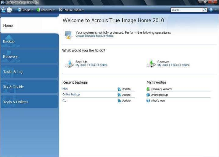 Acronis' True Image Home 2010, why it's our A-List home backup suite