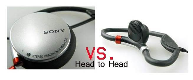 First Look – Head to Head :  Sony Active Series headphones MDR – AS30G vs. MDR A520J