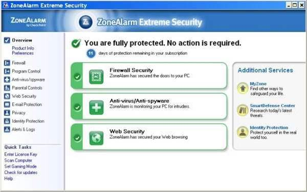 ZoneAlarm Extreme Security, clearly gunning for Norton 360