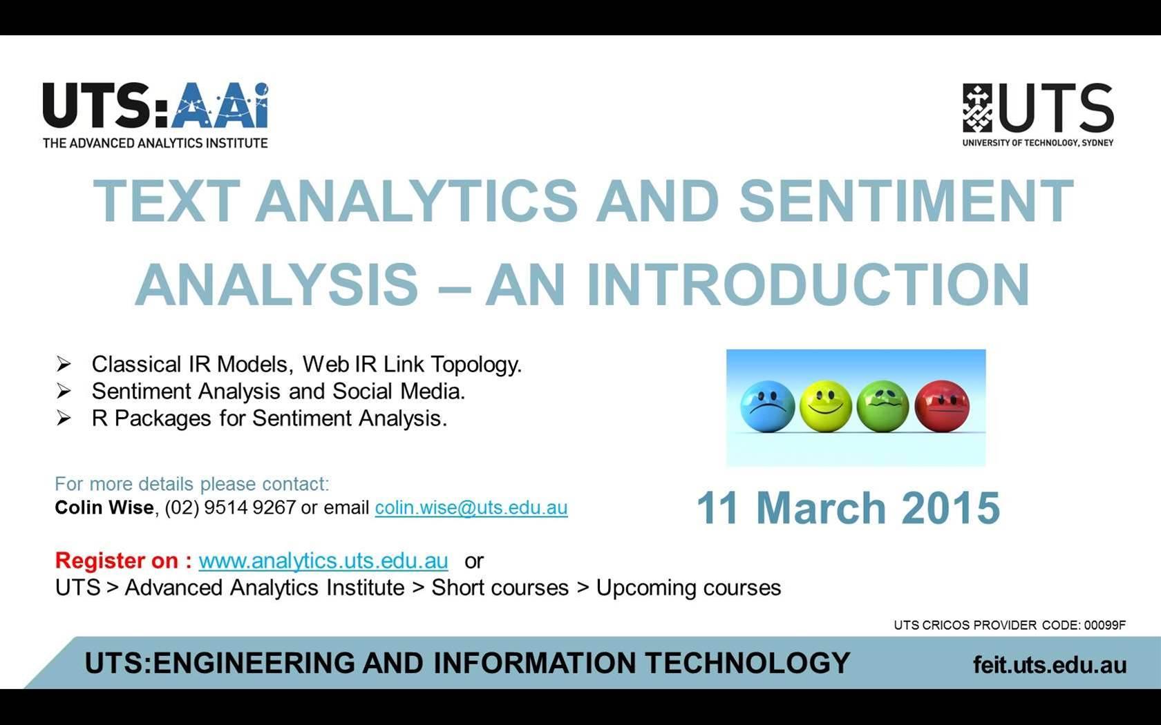 Text Analytics and Sentiment Analysis