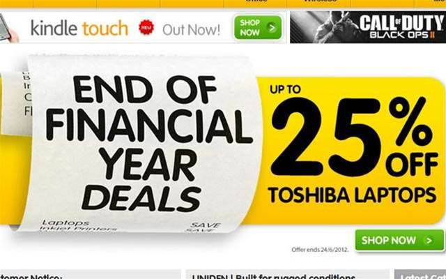End of financial year tech discounts