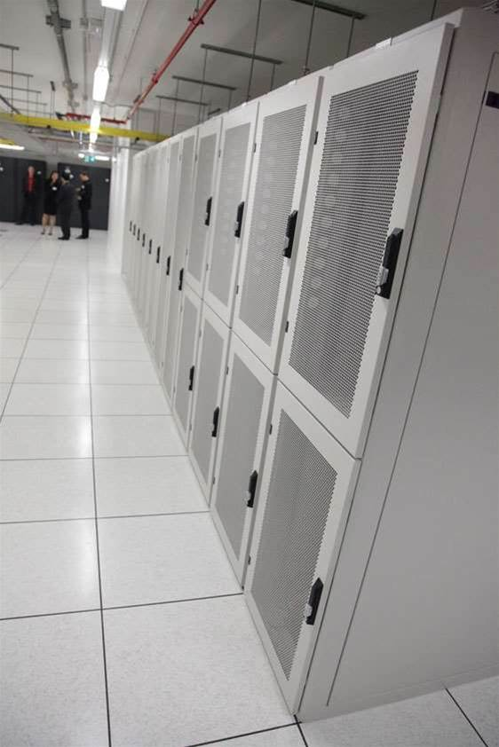 Half-rack configurations waiting for customer equipment. Pacnet is still in the process of migrating customer kit out of its older Bond Street facility.
