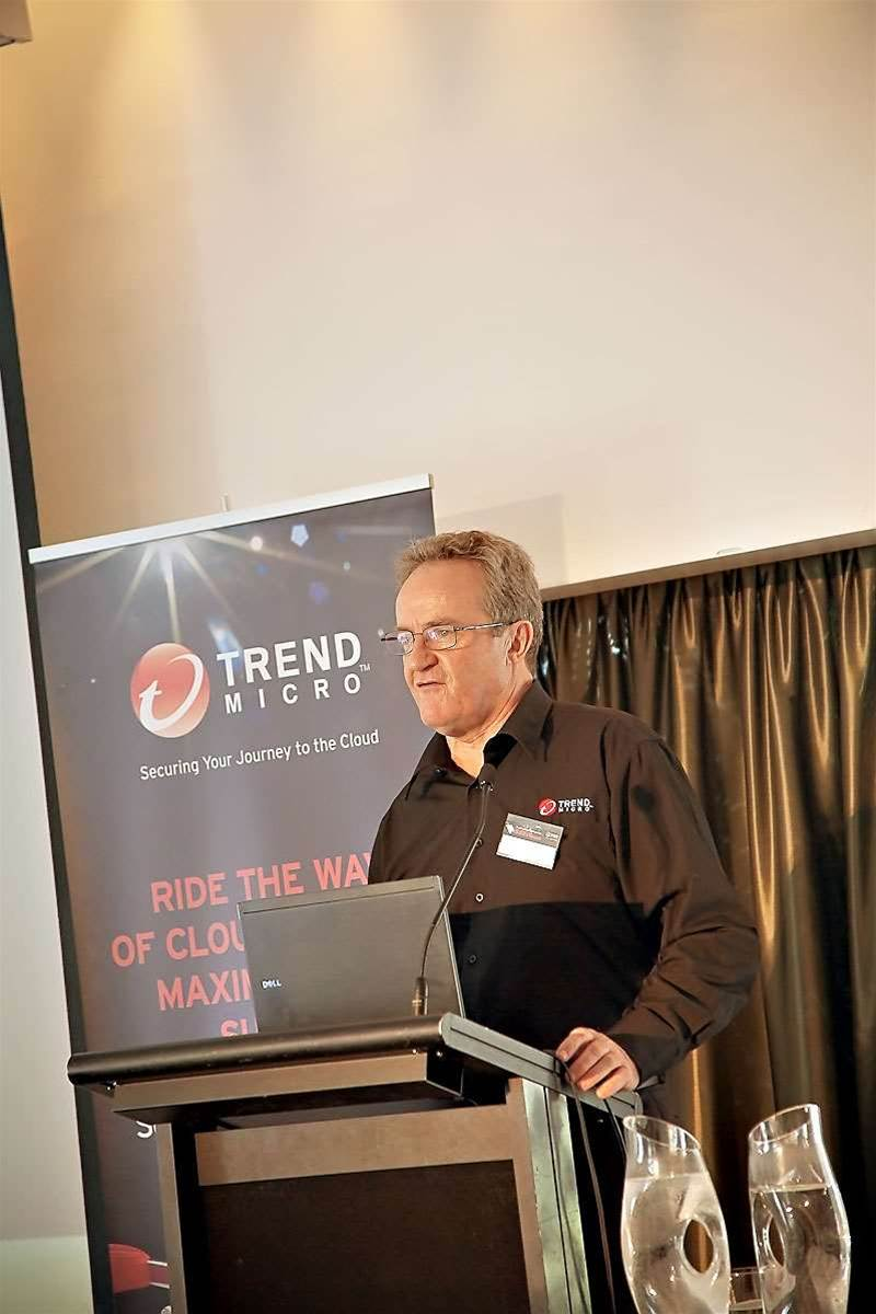 David Higgins from Trend Micro introduces speakers for the 'Security Roadshow' Event<p> Photos: Hannah Lundberg