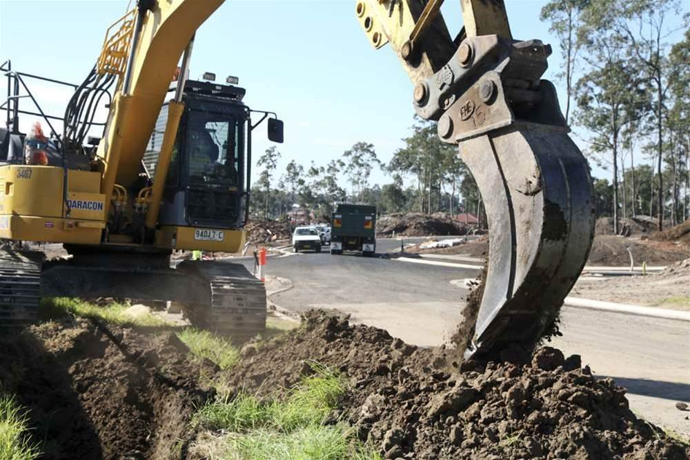 Photos: Landcom estate lays pipes for NBN fibre