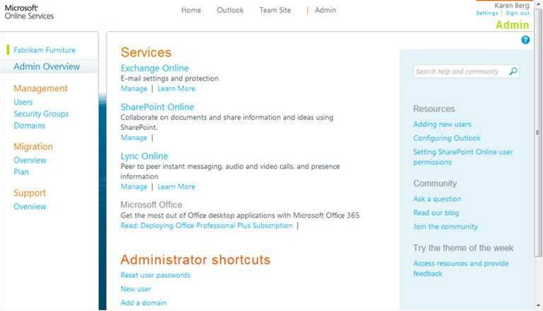 Screenshots: Microsoft Office 365