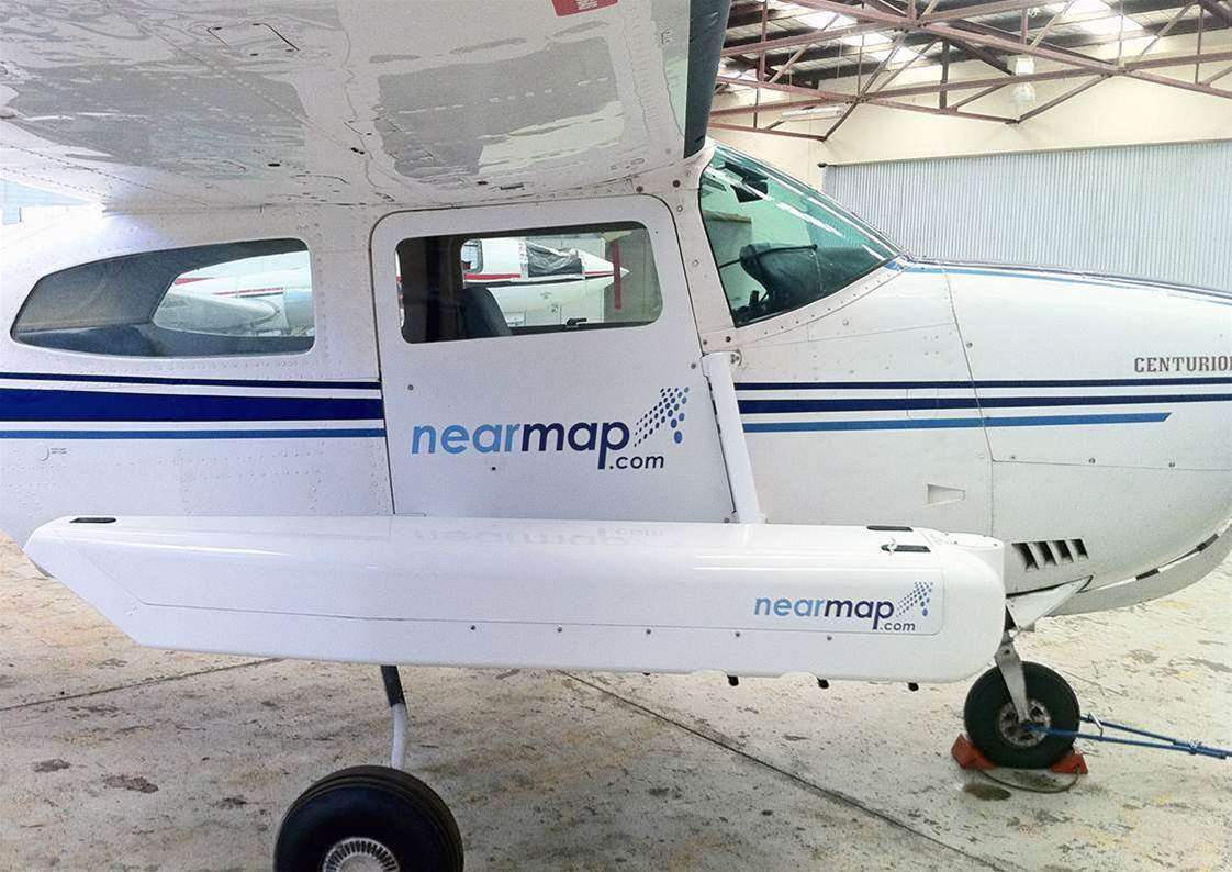 Nearmap's 'Hyperpod' can simultaneously shoot aerial photos, four angles of oblique photos (from North, South, West and East aspects) plus terrain photography when attached to an aircraft.