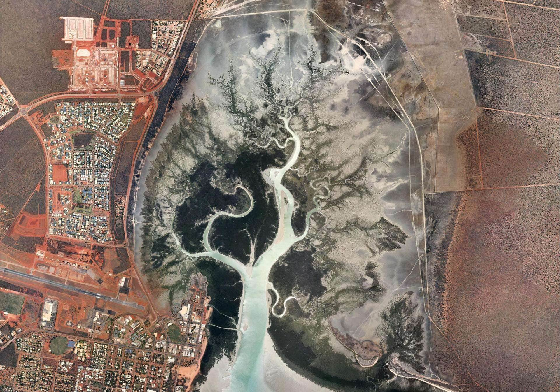 Aerial view of Broome in Australia's North West.