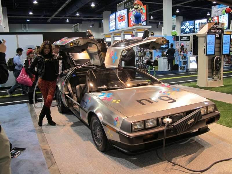 "<h2>DeLorean Electric car at CES</h2>The CES showroom floor is known for throwing up lavish oddities that don't really fit into any clear category. Take this DeLorean DMC-12 EV sports car, for example. It might not scream ""consumer tech"" but we thought it was too cool not to share. Check out the rest of the gallery to learn more."