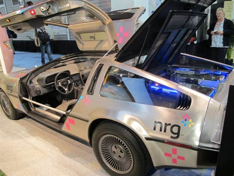 <h2>DeLorean Electric car at CES</h2>The CES exhibit space sprawls over 1.6 <i>million</i> net square feet: stay tuned for an uber gallery of the show's best tech coming later in the week.
