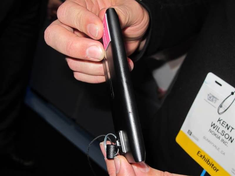 <h2>In Pictures: The CES showroom floor, 2012 (part 2)</h2>The Nokia Lumia 900 measures 0.45 inches at its thickest point.