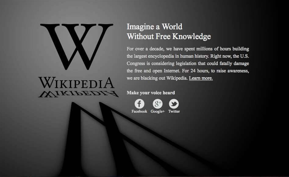 Pictures: How the internet went black for SOPA