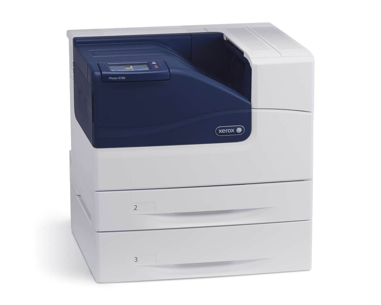 The Phaser 6700 outputs 45 ppm with 1200 X 2400 dpi, 1.25 GHz processor, 160 GB hard drive and 120,000 page monthly cycle. It will retail for $3499.