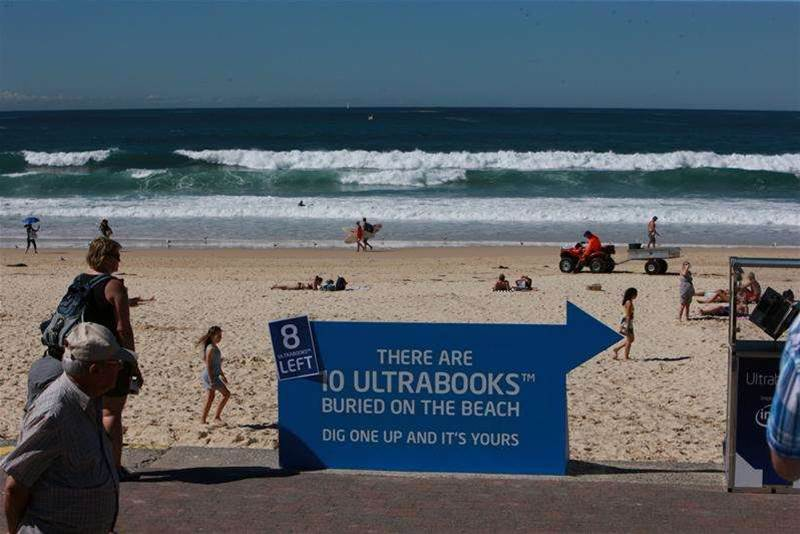 Intel took to Sydney's Bondi Beach as part of an Asia-Pacific 'social experiment' that offered ultrabooks to contestants.