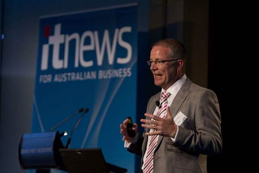 Tony Cross, Executive General Manager, Network Architecture and Technology, NBN Co, takes the stage at the iTnews Executive Summit in Melbourne.