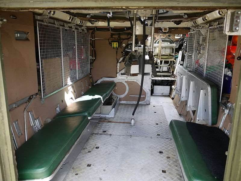 What the interior of the vehicle would have looked like. Here is the British M113 FV432 variant.