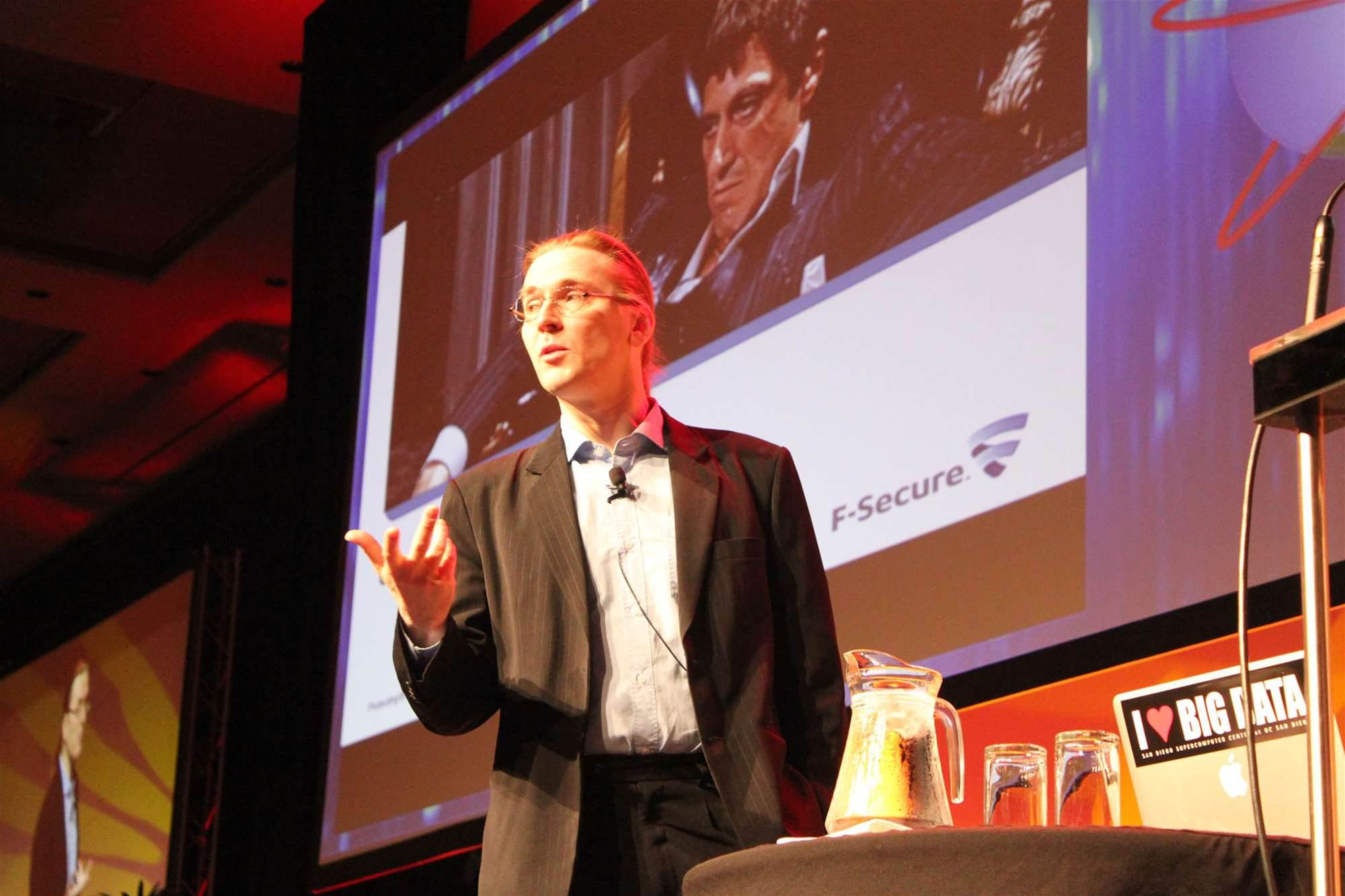 F-Secure chief research officer Mikko Hypponen opened AusCERT 2012 with a keynote on crime. He noted concern with the rapid expansion of defense contractors into infosec.