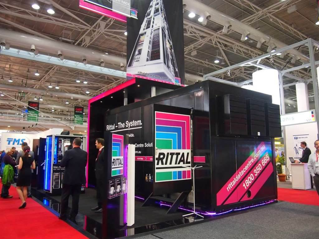Rittal made sure its stand was bright enough to draw attention.