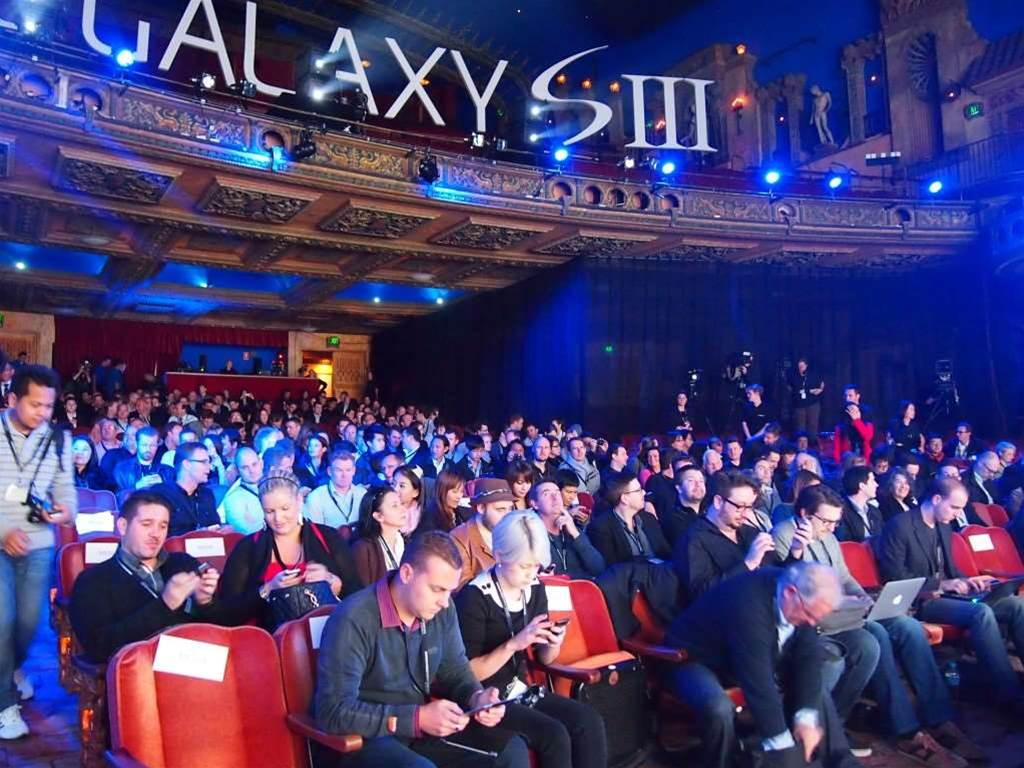 Guests turned up in droves to witness the launch of Samsung's Galaxy S III smartphone. Samsung claims over 300 people were present at the Capitol Theatre, Sydney event.