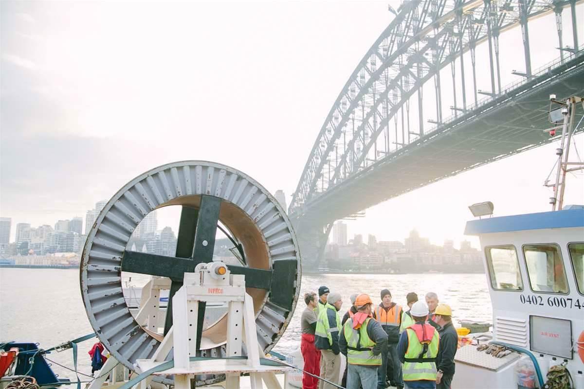 In pictures: Vocus lays cross-harbour fibre