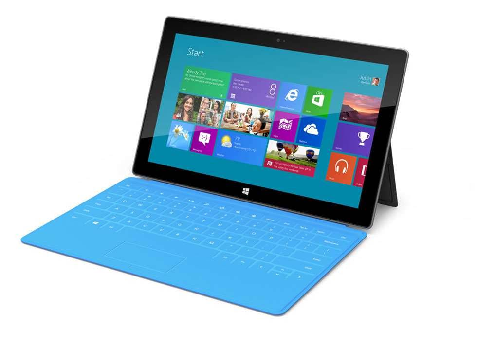 The Microsoft Surface tablet is 9.3mm thin and has a 10.6in, 16:9 widescreen display. There are two versions at launch. The first is running Windows RT, weighs 676 grams and has a choice of 32 GB or 64 GB of storage. A second version runs Windows 8 Pro, weighs 903 grams, can operate with a stylus, and has 64 GB and 128 GB storage options.